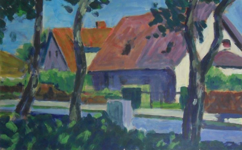 Dorf im Mittagslicht