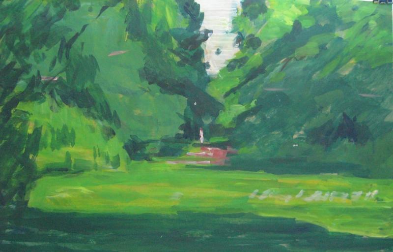 Frau im Park