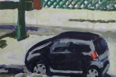 Kleinwagen am Straßenrand