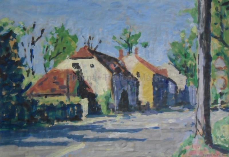 Dorf im Frühling