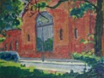 Kulturbrauerei, Berlin - Acryl auf braunem Packpapier - 57 cm x 43 cm