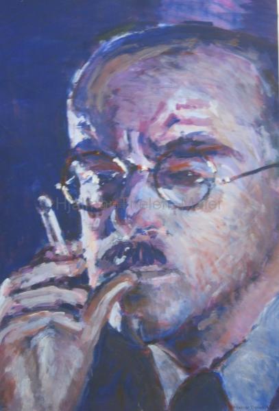 Klaus Mann - Acryl auf naturweißem Zeichenkarton - 40 cm x 59 cm