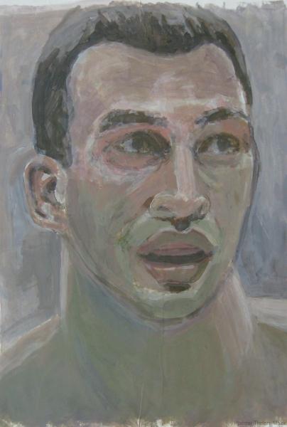 W. Klitschko - Acryl auf weißem Zeichenpapier - 39 cm x 56 cm