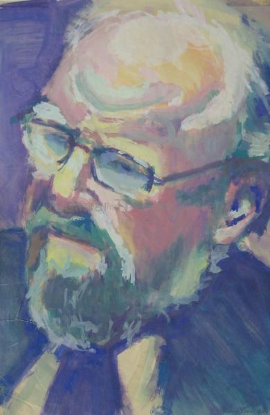 Wolfgang Thierse - Acryl auf naturweißem Zeichenpapier - 36 cm x 44 cm