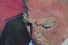 Helmut Kohl (?) - Acryl auf weißem Zeichenpapier - 40 cm x 63 cm